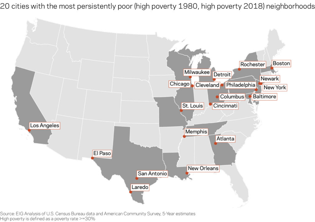 Persistent Poverty Cities Map